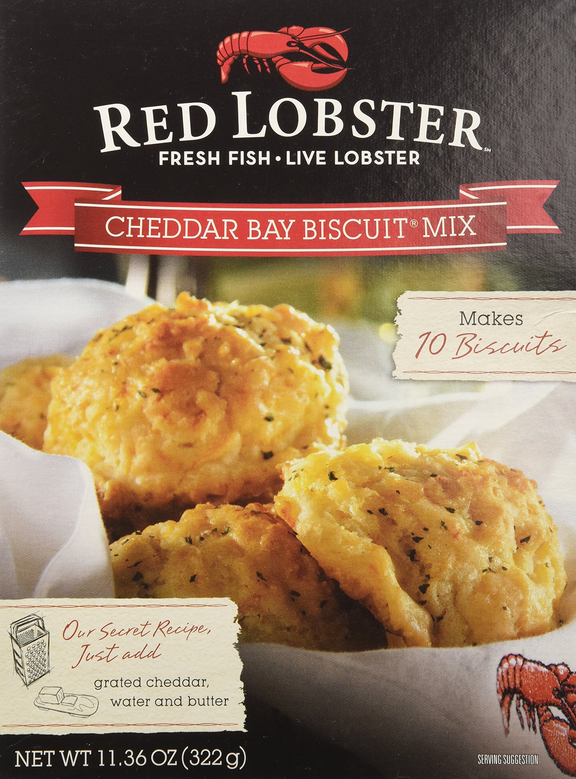 Red Lobster, Cheddar Bay Biscuit Mix, 11.36oz Box (Pack of 3) by Red Lobster Cheddar Bay Biscuits
