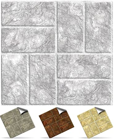Tile Style Decals | Modell (24xTP 18   6in  Light Grey Brick) |