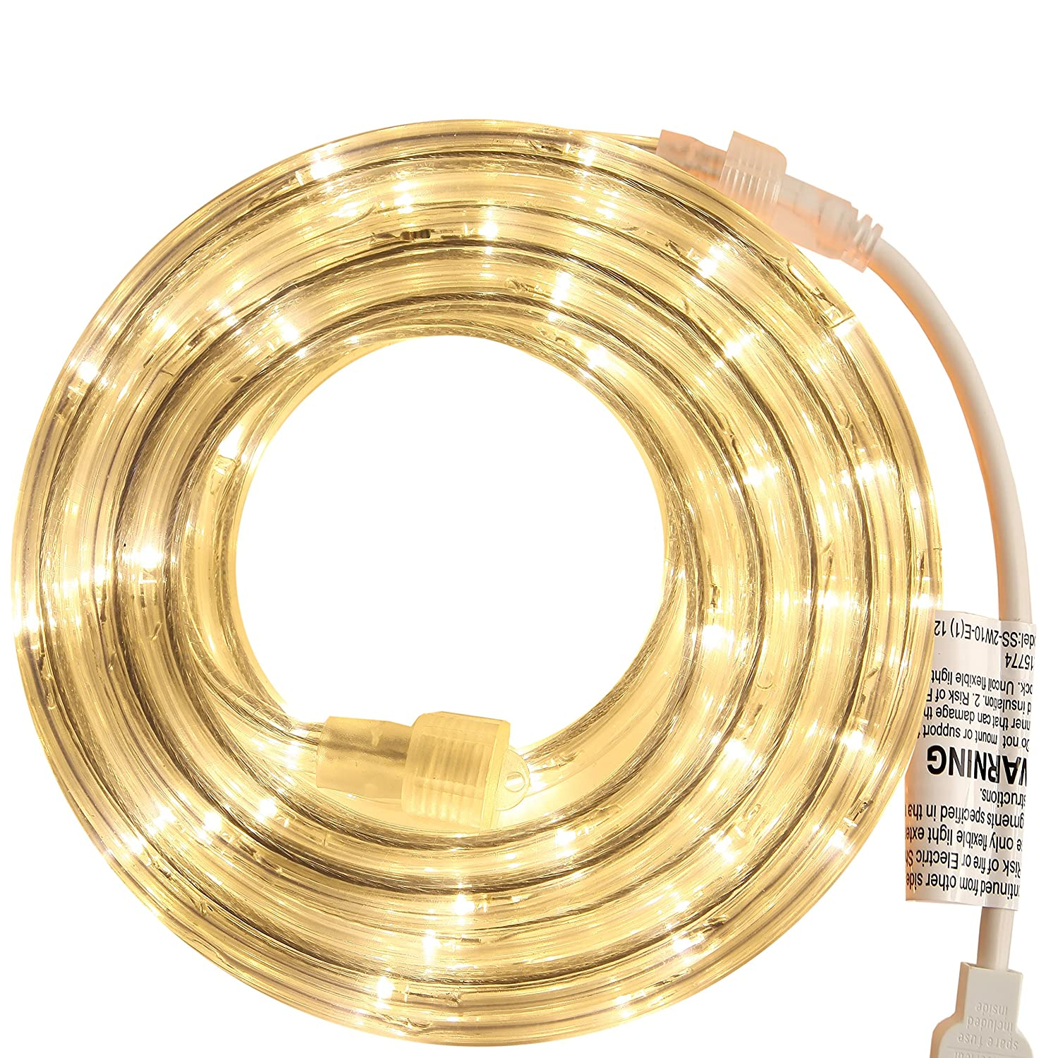 PERSIK Rope Light for Indoor and Outdoor use 18 Feet 108 LED Warm White Lights