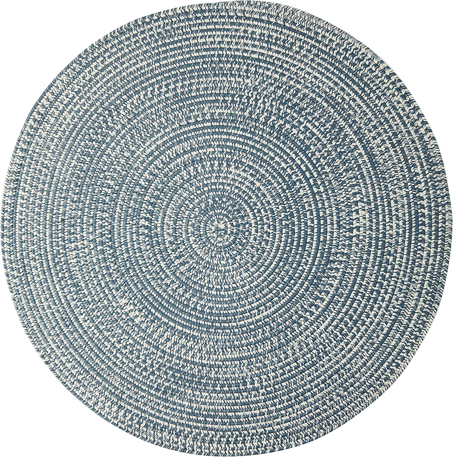 Amazon Com Colonial Mills Kaari Tweed Round Indoor Outdoor Braided Area Rug 4 X 4 Arctic Blue Furniture Decor