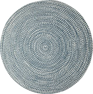 "product image for Colonial Mills Kaari Tweed Round Indoor/Outdoor Braided Area Rug, 8' 6"" X 13', Grey/Ivory"