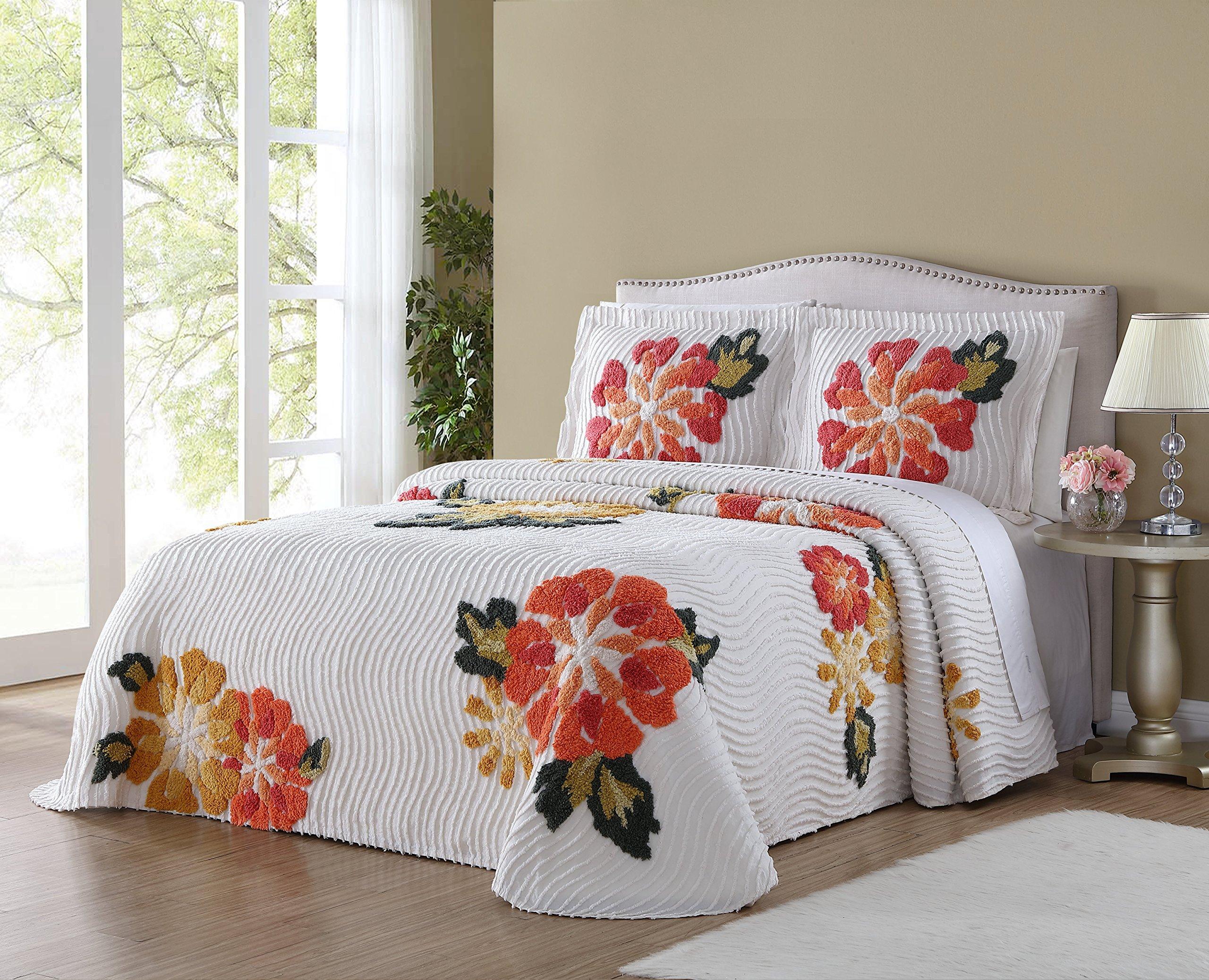 Ellison Autumn Chenille Bedspread, Queen