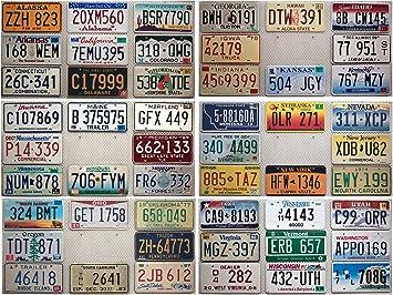 USA Connecticut Nummernschild License Plate Deko Blech Schild Blechschild