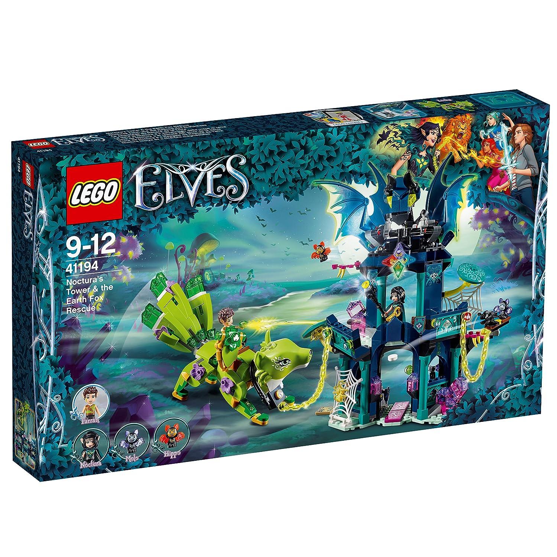 LEGO Elves - Torre de Noctura y el Rescate del Zorro de la Tierra, Juego de Construcción de Aventuras, Incluye Figuras de Murciélagos de Juguete ...