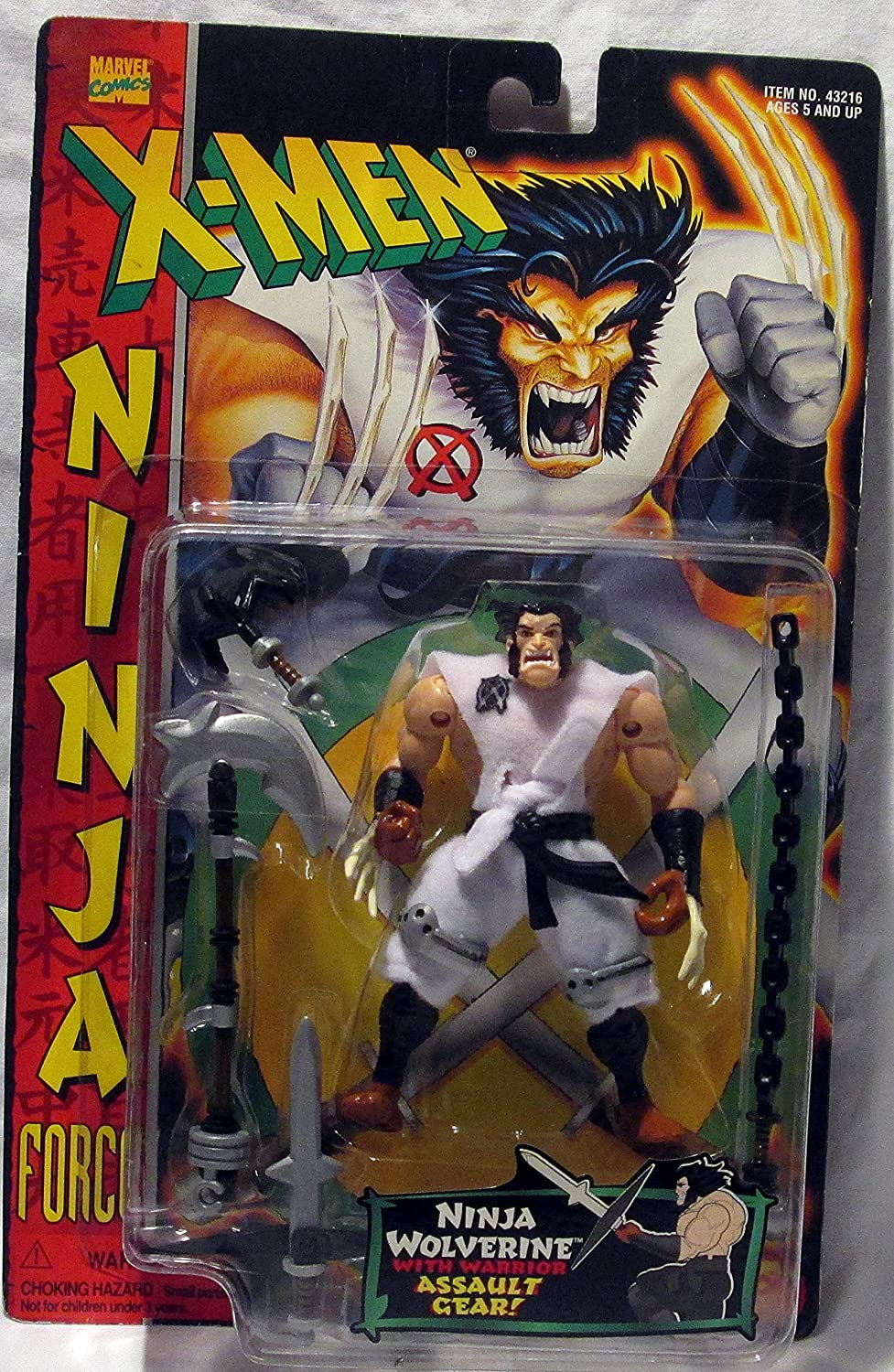 X Men Ninja Wolverine w/ Assault Gear Ninja Force Action Figure