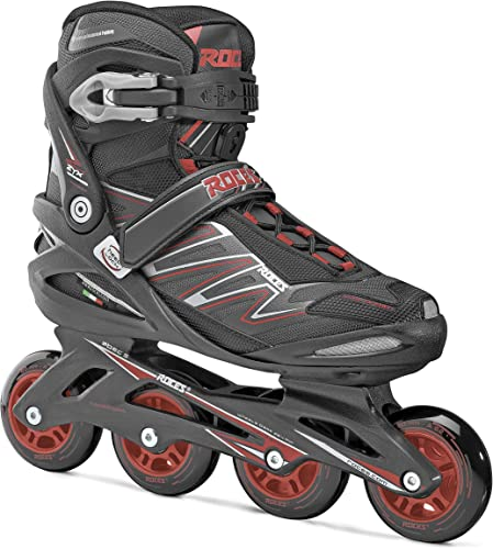 Roces Mens Big ZYX M Fitness Inline Skates Blades Art Black Red 400812