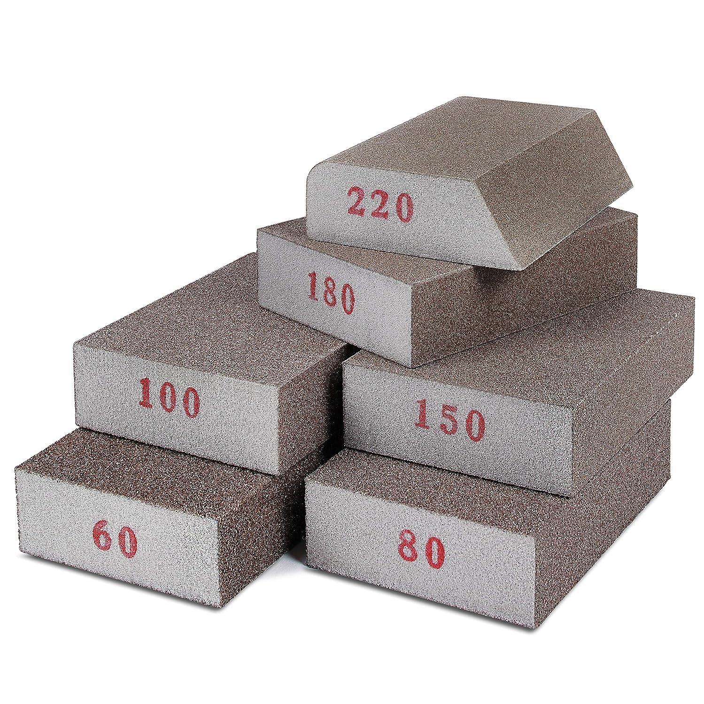 240-320 Grit 8pcs ZXHAO Sanding Sponge Sanding Blocks Polished Elastic Sanding Block Fine