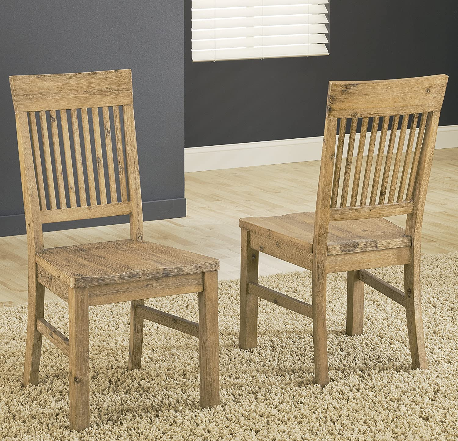 amazoncom modus furniture 8fm266 autumn solid wood dining chair 2 pack chairs autumn furniture