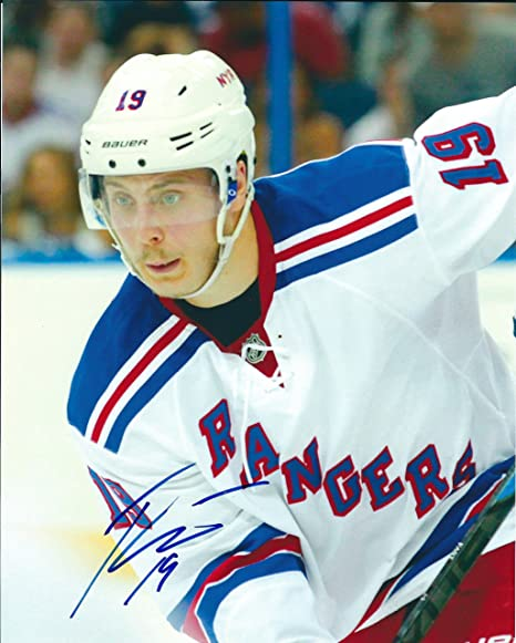 Image Unavailable. Image not available for. Color  Autographed Jesper Fast  New York Rangers ... 9c394bf8c