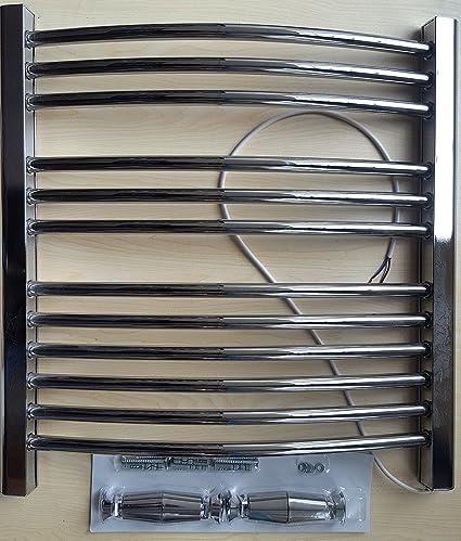 Creda 260 W radiador toallero curvados cromado baño de pared calefactor eléctrico pl260cc – H: