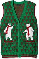 Blizzard Bay Men's Polar Bear Dance Pary Cardi Vest Ugly Xmas
