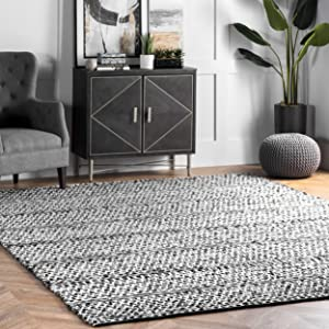 nuLOOM Natosha Chevron Indoor/Outdoor Area Rug, 6' x 9', Silver