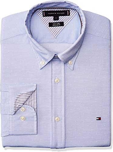 Tommy Hilfiger - Camisa falsa lisa azul celeste XXL: Amazon.es: Ropa y accesorios