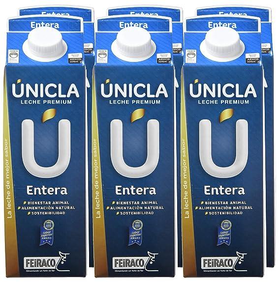 Únicla Leche UHT Entera - Paquete de 6 x 1000 ml - Total: 6000 ml: Amazon.es: Alimentación y bebidas