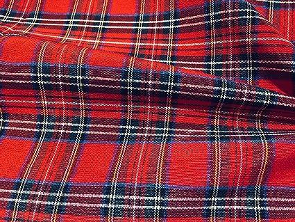 BIG ROYAL STEWART SCOTTISH CHECK Tartan Fabric Material