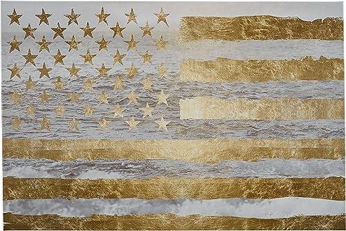 Amazon Brand Rivet Gold American Flag