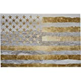 """Rivet Gold American Flag by The Sea on Canvas, 45"""" x 30"""""""