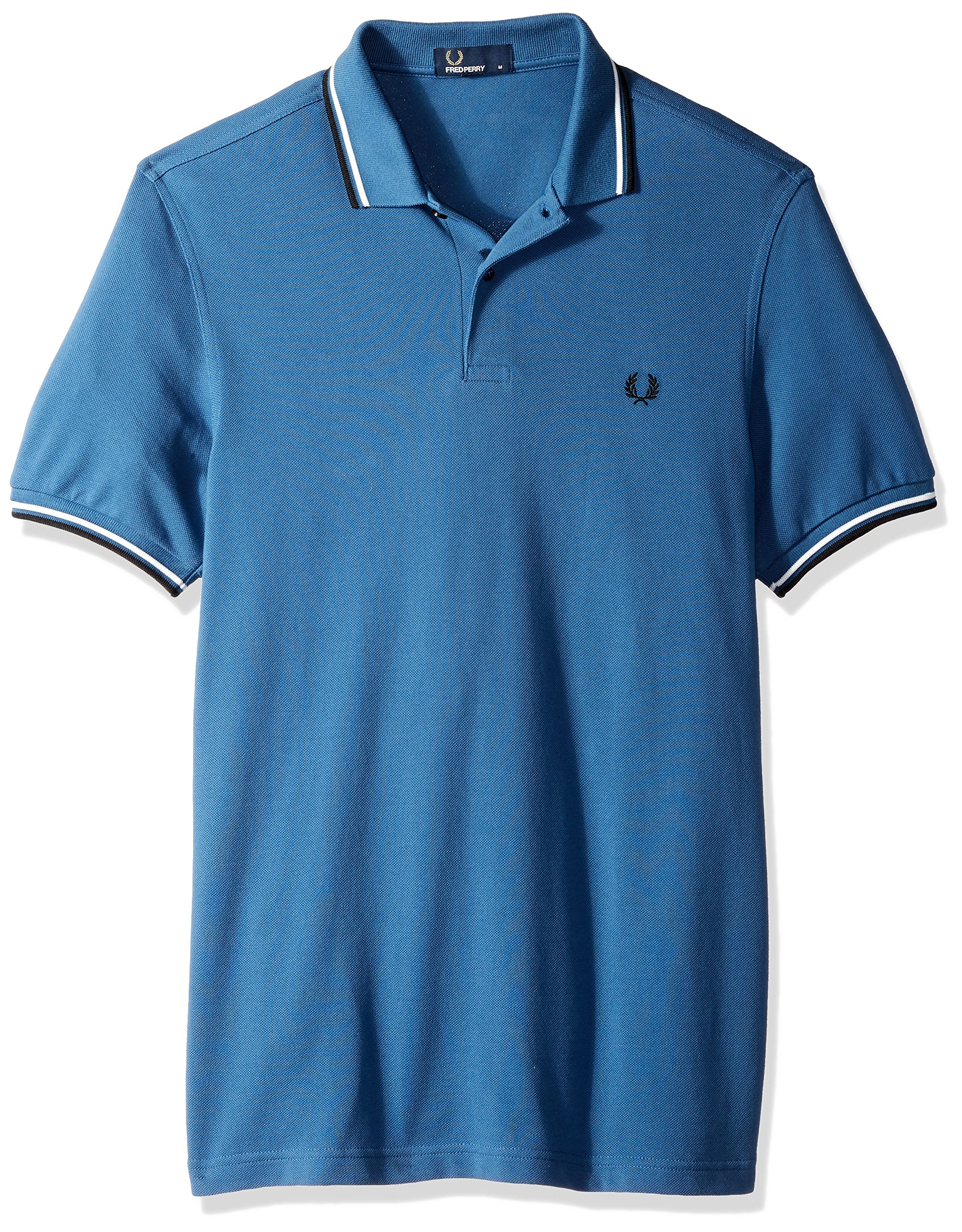 Fred Perry Men's Twin Tipped Shirt, Midnight Blue, Small