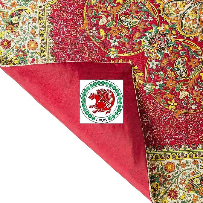 LPUK Mantel Afshari Collection Series1 Rojo 100 cm × 100 cm Aprox ...