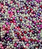 200 Glass pearl beads** PURPLE & PINK MIX**4MM**UNIVERSAL CRAFTING USE**