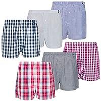 Maat Mons Lot DE 6 Shorts/sous Vetements pour Hommes - avec Différents Motifs Carreaux - 100% Coton