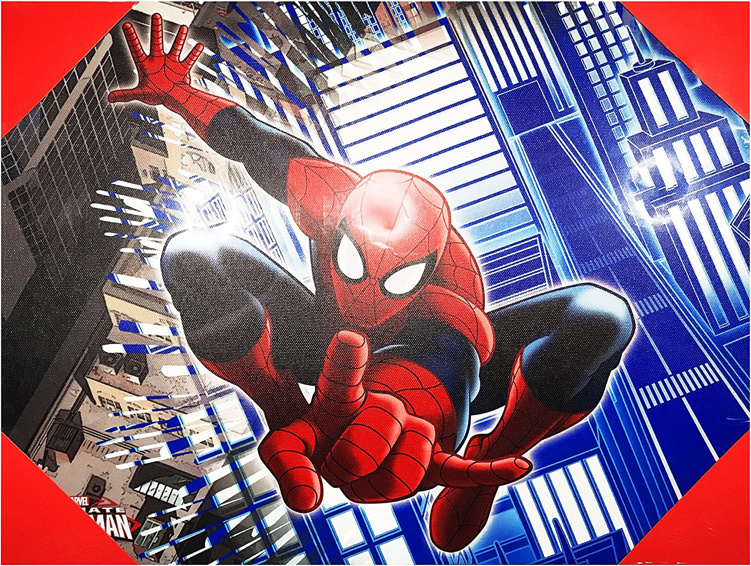 """Edge home Products Spider-Man Canvas Wall Art, 12"""" x 16"""""""