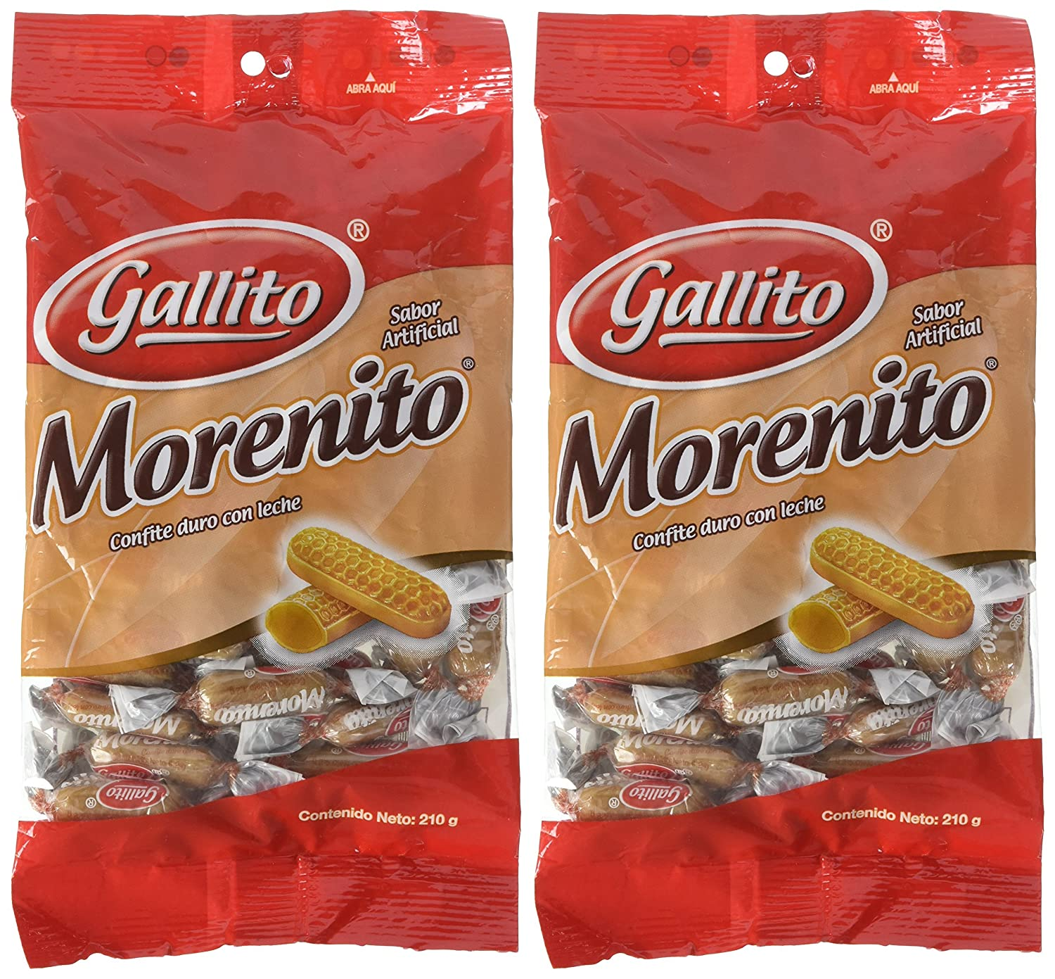 Amazon.com : Gallito Morenito Hard Candy, 2 Bags of 7.5 Ounces : Grocery & Gourmet Food
