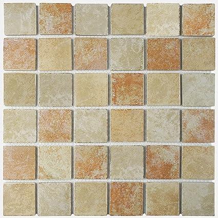 Somertile Fkorcm66 Denver Quad Adobe Porcelain Floor And Wall Tile