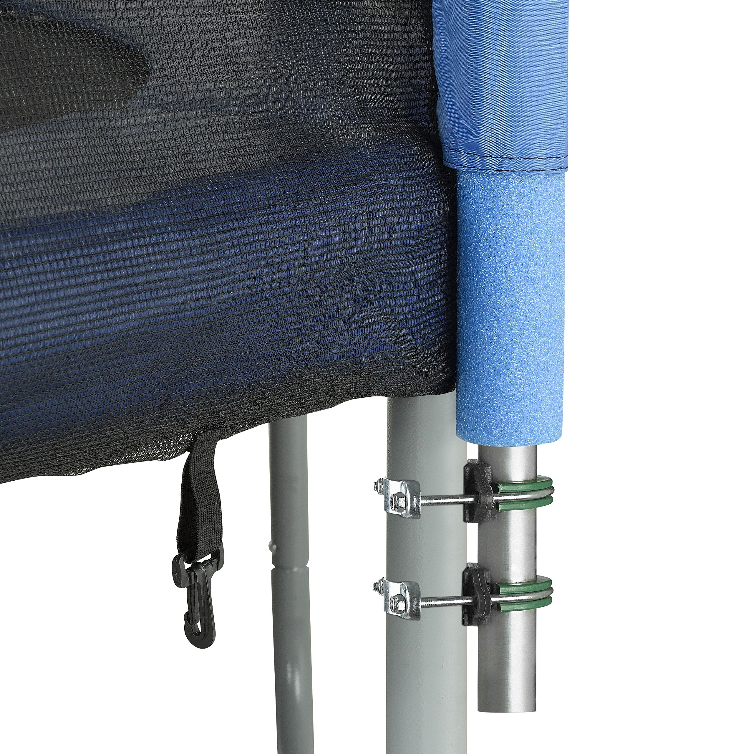 Upper Bounce 8 Pole Trampoline Enclosure Set to fit 15 FT. Trampoline Frames with Set of 4 or 8 W-Shaped Legs (Trampoline Not Included) by Upper Bounce (Image #5)