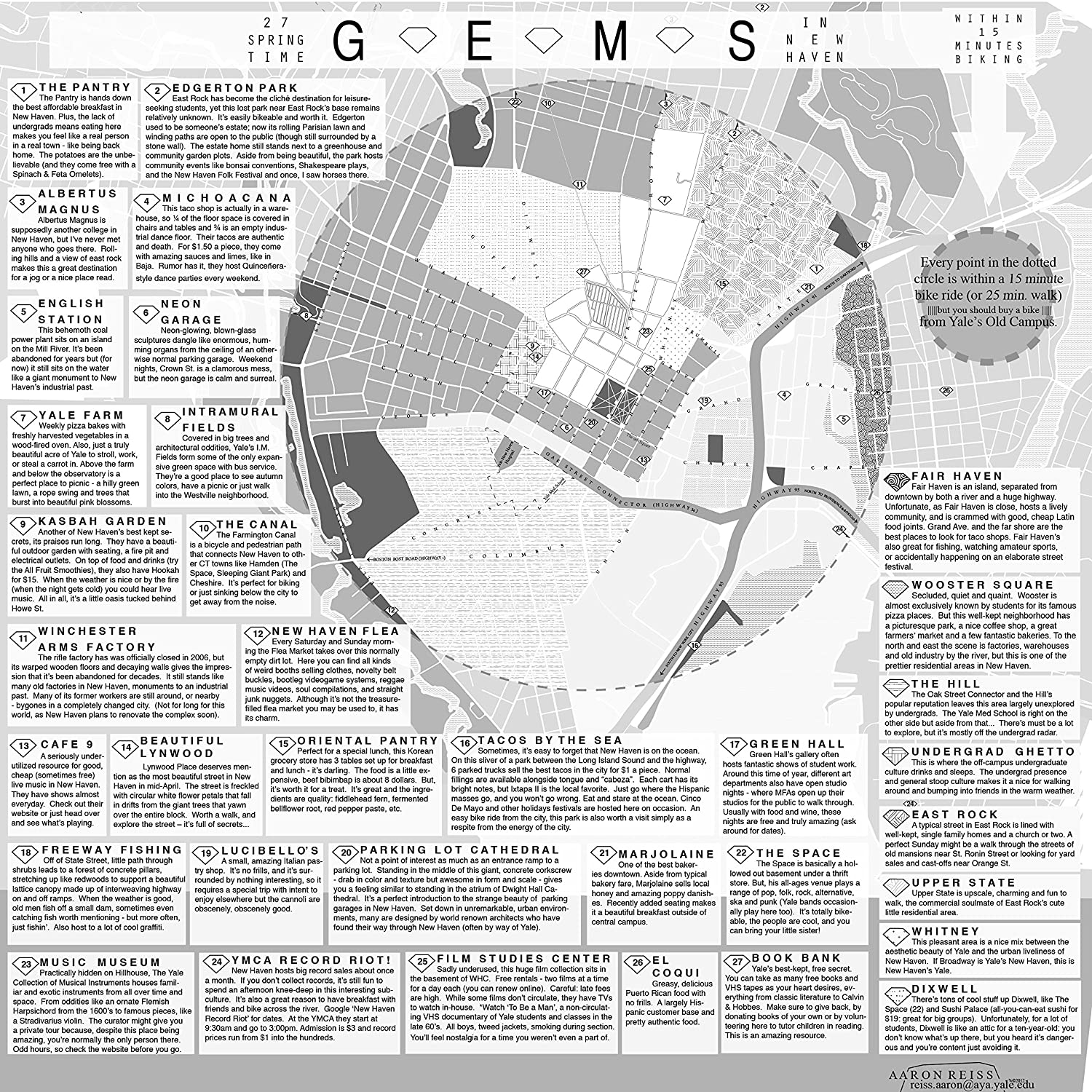 Amazon com: Home Comforts Laminated Poster Map of 27 Gems in New