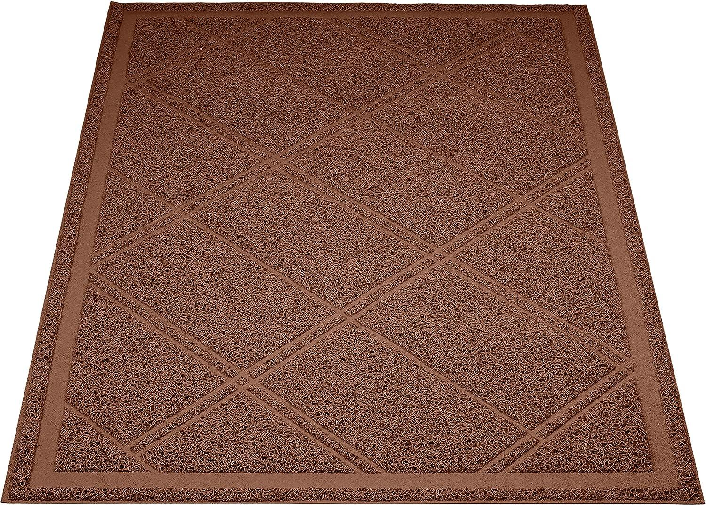 Amazon Basics Less-Mess Cat Litter Box Mat, 24 x 35 Inches, Brown