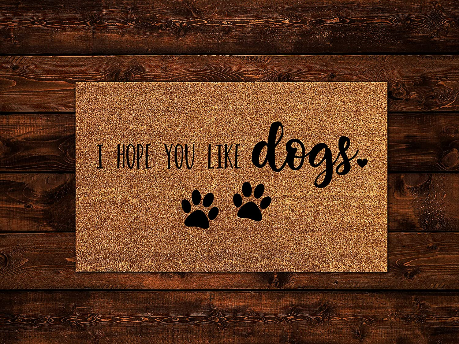 I Hope You Like Dogs, Dog Doormat, Wedding Gift, Closing Gift, Housewarming Gift, Welcome Mat