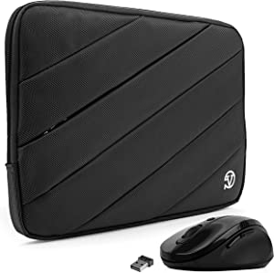 Protective Shock Absorbing Laptop Sleeve Case with Mouse (Black, 11.6 to 12.5 inch) for Dell Inspiron 11, Latitude 11 12, ChromeBook, Education Series, XPS 12