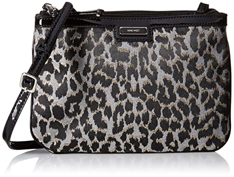 Nine West Glitter Mob LG Cross Body Bag, Black/Grey, One Size: Handbags: Amazon.com