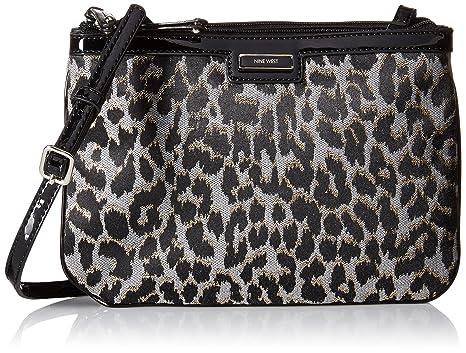 Nine West Glitter Mob LG Cross Body Bag, Black/Grey, One Size: Handbags: Amazon.com