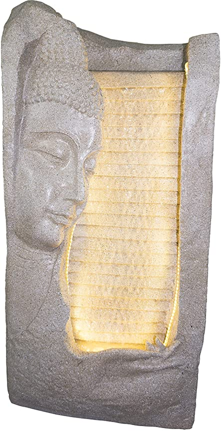 Kaarigari Artifacts Side face Lord Buddha Water Fountain for Home Décor/Garden/Indoor Décor/Outdoor Décor/Office