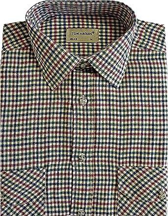 Camisa, de algodón peinado, de franela, de manga larga, elegante ...
