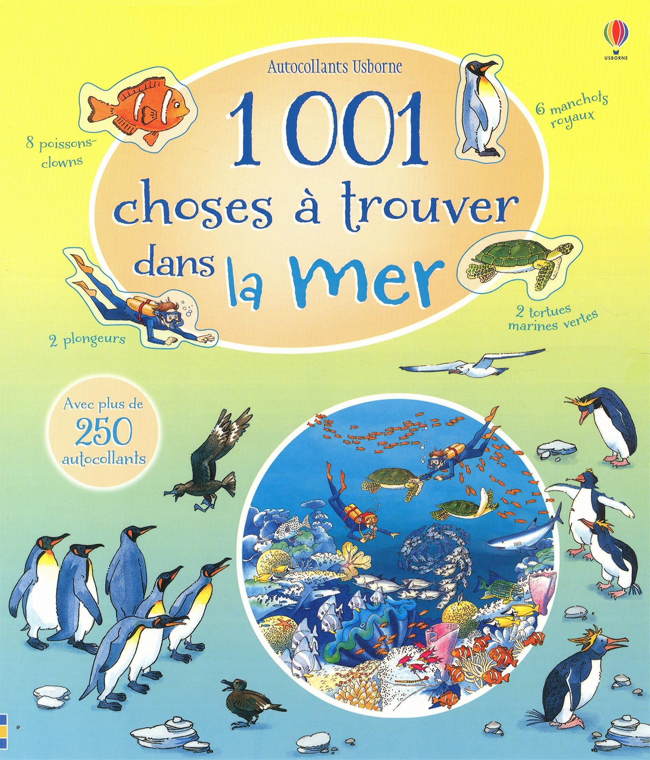 1 001 choses à trouver dans la mer - Autocollants Usborne: Amazon.fr: Katie  Daynes, Teri Gower, Virginie Clauzel: Livres