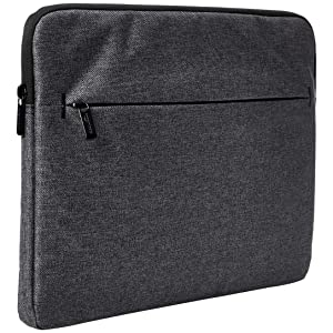 "AmazonBasics Laptop Sleeve with Front Pocket, 15"", Grey"