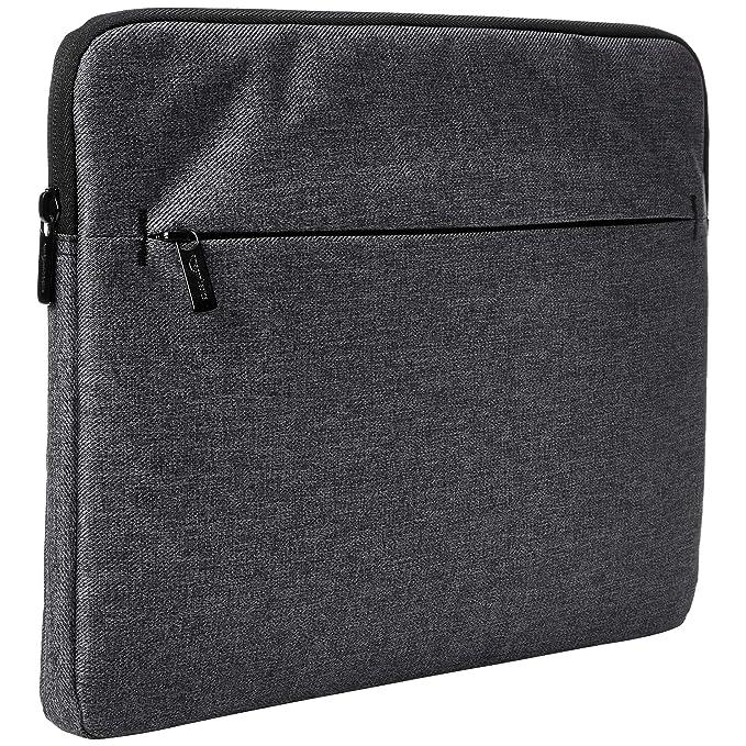 AmazonBasics Laptop Sleeve Case with Front Pocket, 15 Inch, Grey