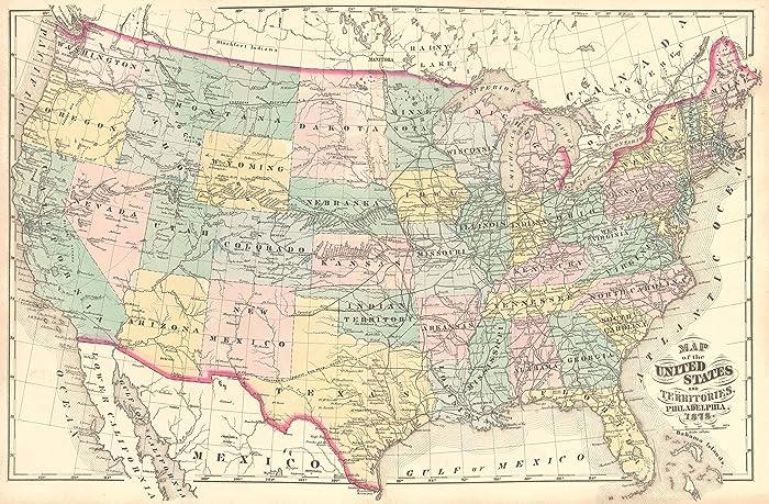 amazon com push pin travel map of united states vintage map push