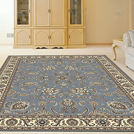 Amazon.com: Radici 1426/0050/GREYBLUE ALBA Rugs, 3-Feet 3 by ...