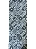 Tappeto cucina a metraggio largo 52 cm ( si vende a multipli di 1 m) maiolica cementine vietri(GRIGIO)