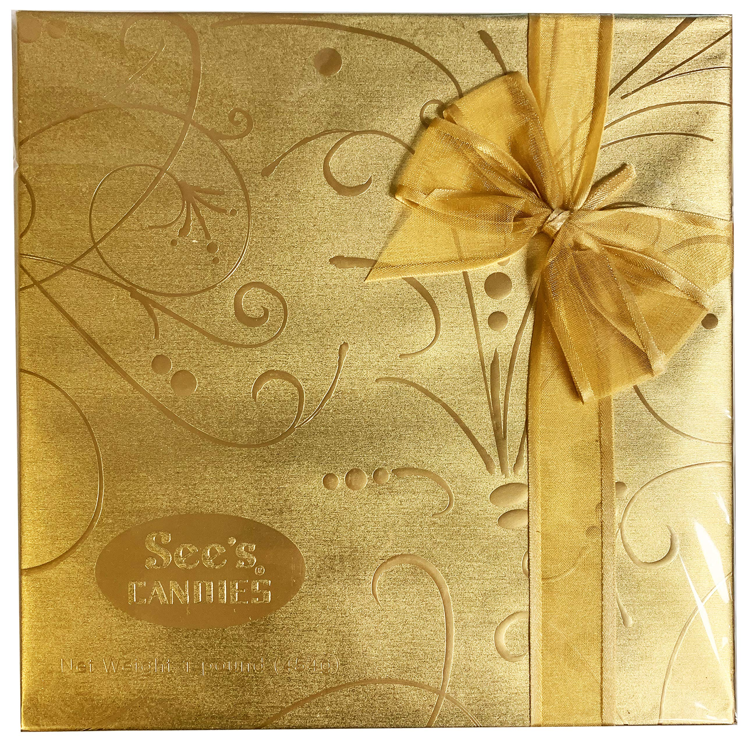 See's Candies 1 Lb Fancy Gold Gift Box of Assorted Chocolates by See's Candies