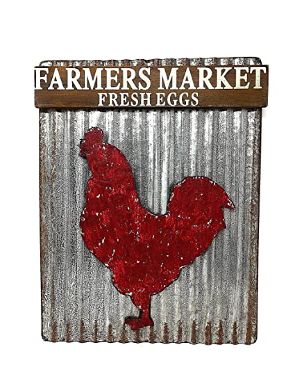 Farmhouse Country Style Kitchen Decor Metal Wood Sign Plaque 11\' x 14\
