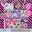 Townley Girl L.O.L. Surprise! Peel- Off Nail Polish Activity Set for Girls, Ages 5+ With 5 Nail Polish Colors, 240 Nail Gems and a Bag, for Parties, Sleepovers and Makeovers