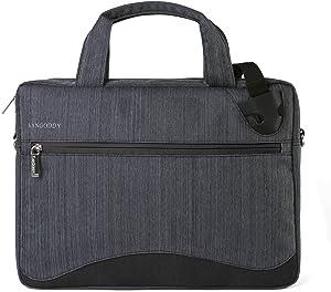 Vangoddy 13 Inch Nylon Laptop Shoulder Bag (Black) for Dell Inspiron 13 5000 7000 13.3, XPS 13 9360 9370 13.3, Latitude 5490 14, 7212 11.6, 7380 7389 7390 13.3