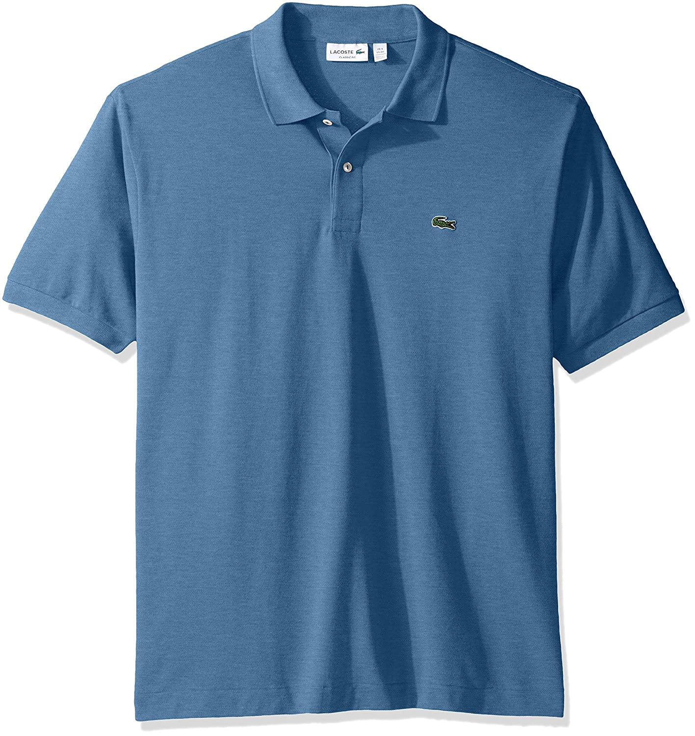 a49b0b5d668ef2 Lacoste Men s Short Sleeve Classic Chine Fabric L.12.64 Original Fit Polo  Shirt at Amazon Men s Clothing store