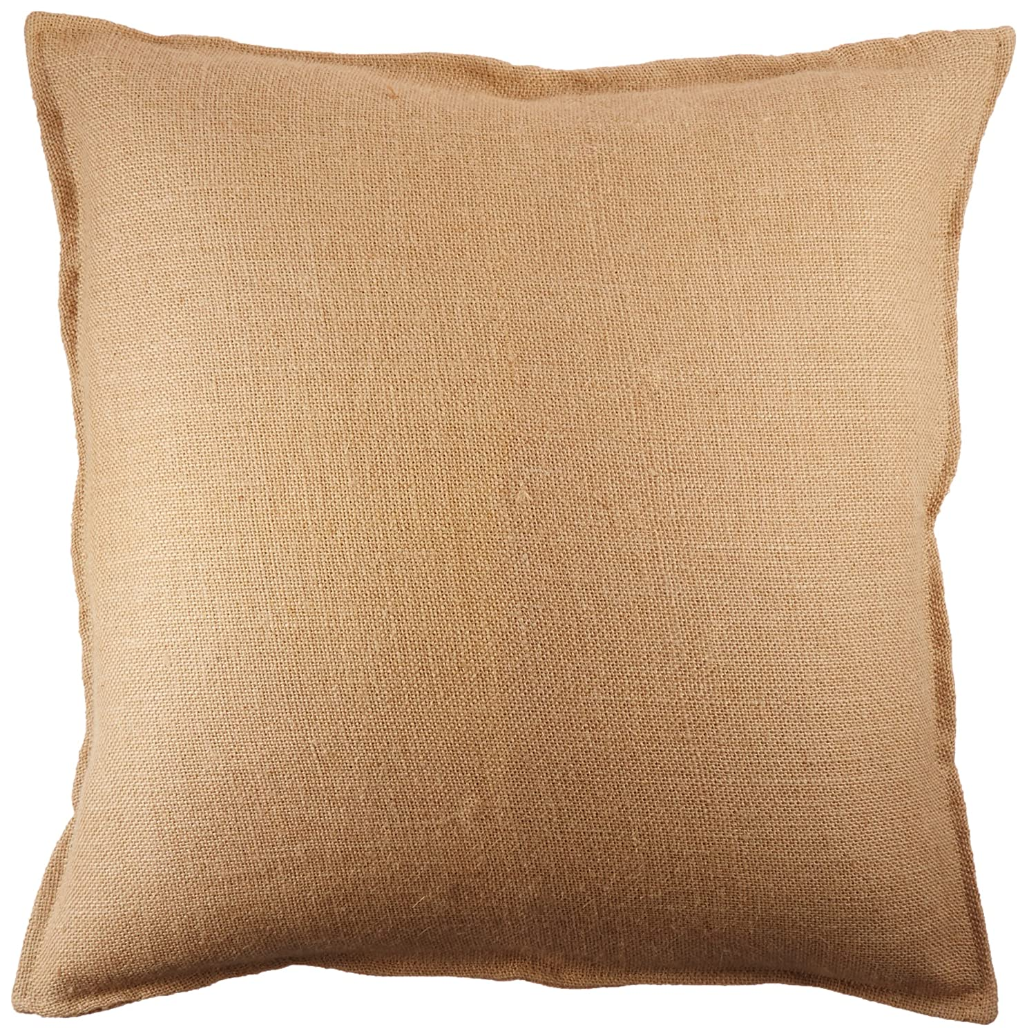 Amazoncom Washed Jute Burlap Plain Pillow Cover 20 x 20 with