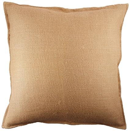 Amazoncom Washed Jute Burlap Plain Pillow Cover 20 X 20 With